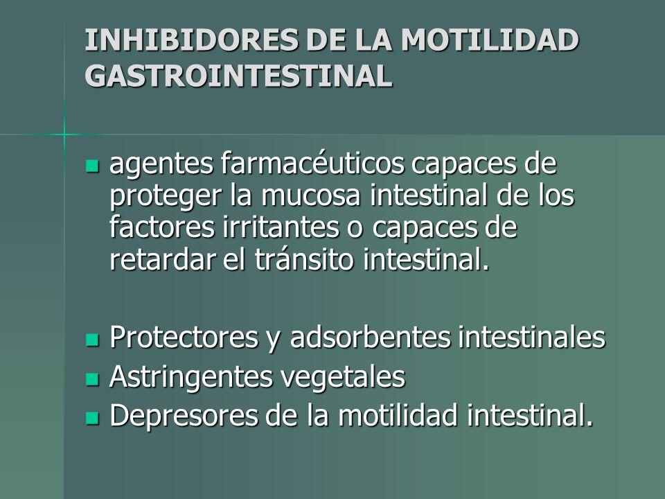 INHIBIDORES DE LA MOTILIDAD GASTROINTESTINAL