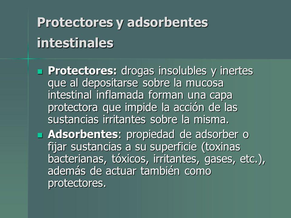 Protectores y adsorbentes intestinales