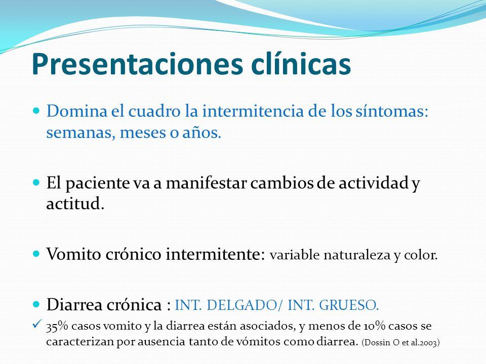 Presentaciones clínicas