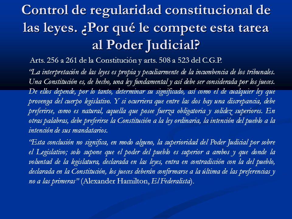 Control de regularidad constitucional de las leyes