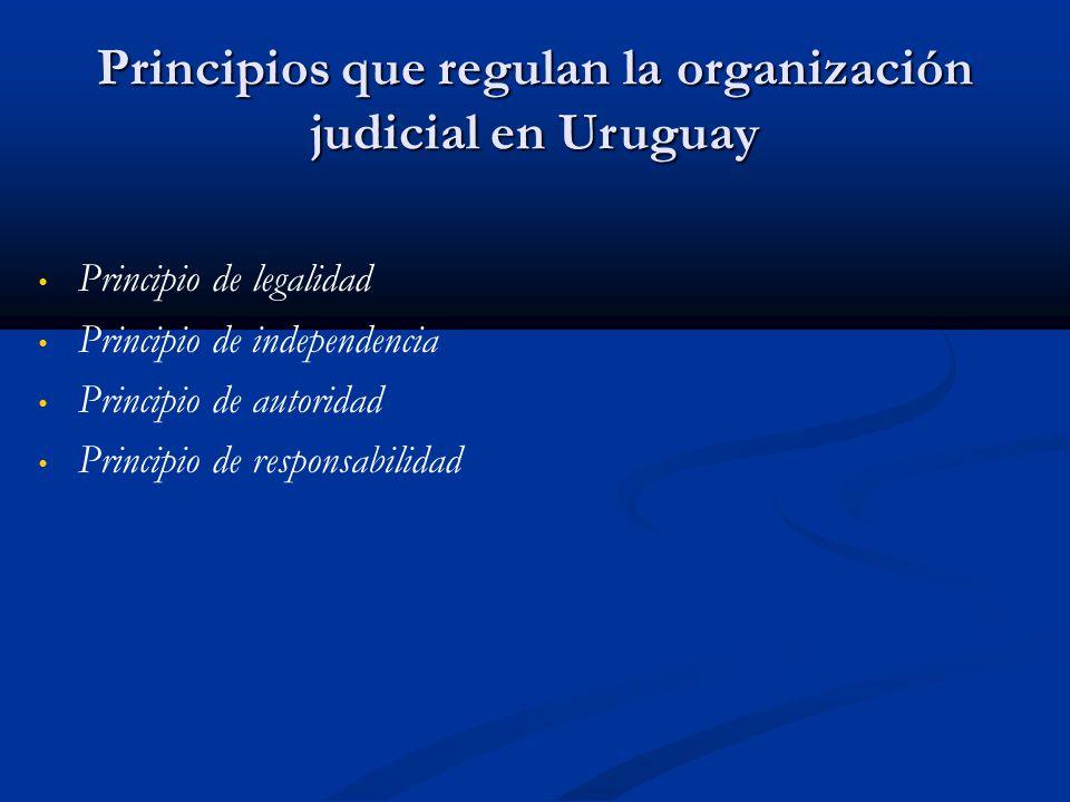 Principios que regulan la organización judicial en Uruguay