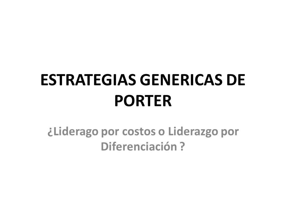 ESTRATEGIAS GENERICAS DE PORTER