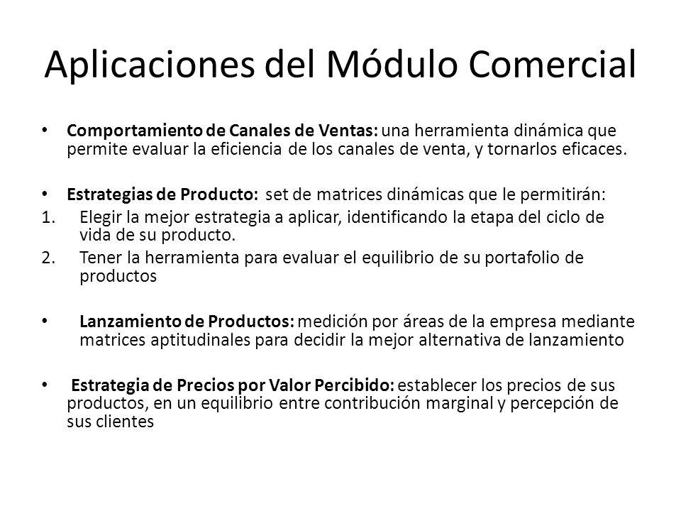 Aplicaciones del Módulo Comercial