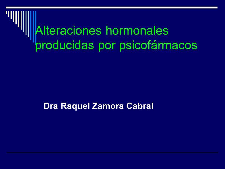 Alteraciones hormonales producidas por psicofármacos