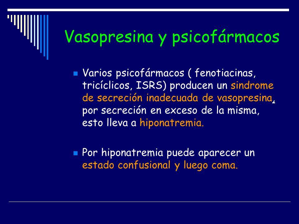 Vasopresina y psicofármacos