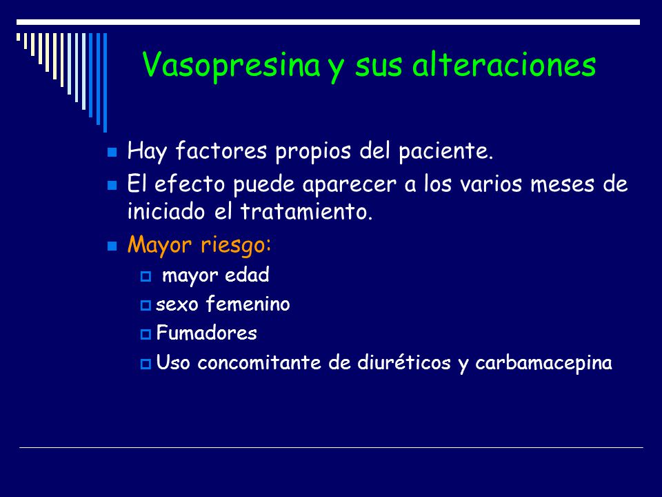 Vasopresina y sus alteraciones