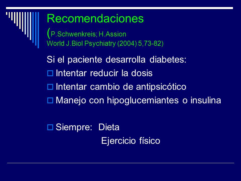 Recomendaciones (P. Schwenkreis; H. Assion World J