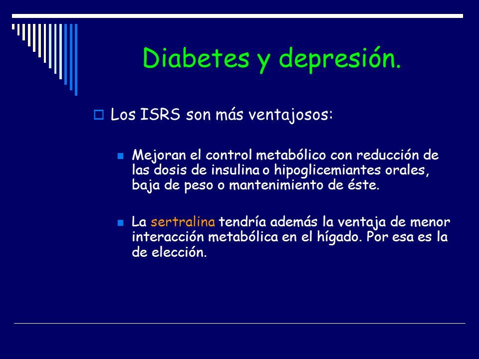 Diabetes y depresión. Los ISRS son más ventajosos: