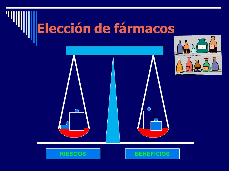 Elección de fármacos RIESGOS BENEFICIOS