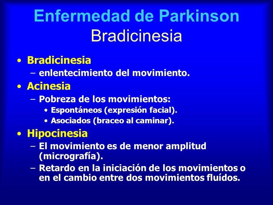 Enfermedad de Parkinson Bradicinesia