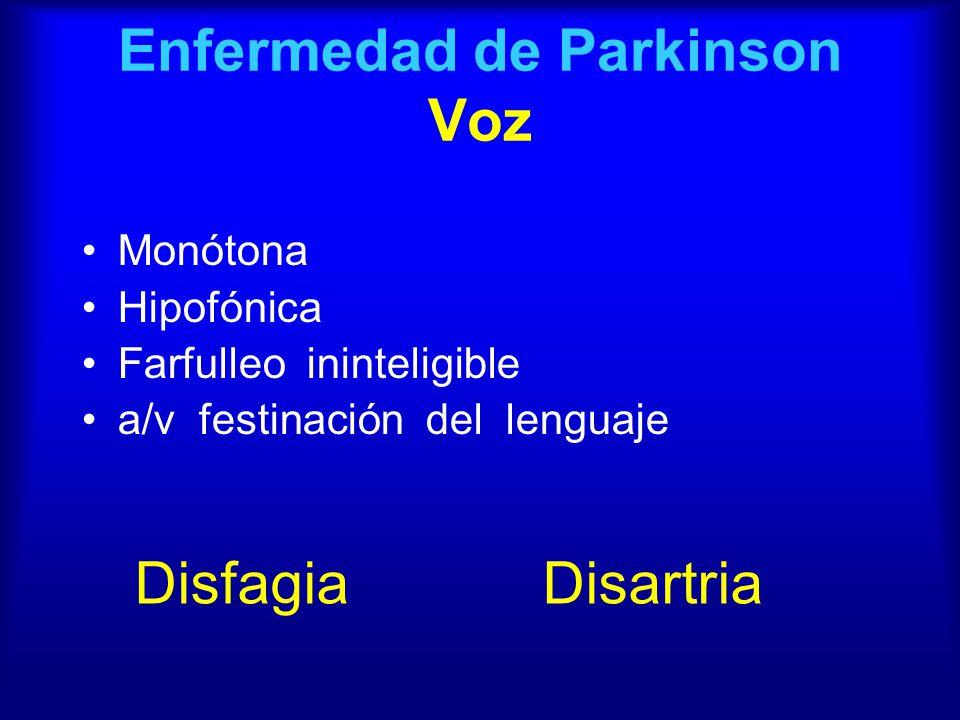 Enfermedad de Parkinson Voz
