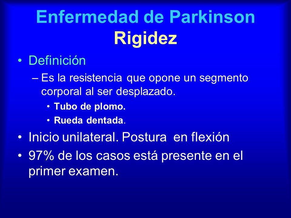 Enfermedad de Parkinson Rigidez