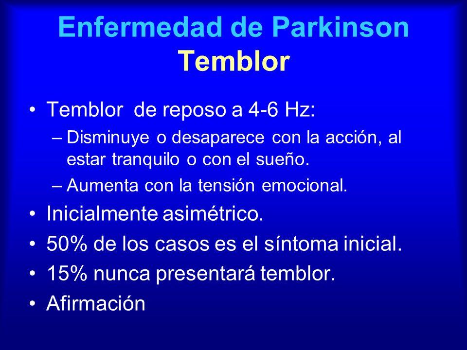 Enfermedad de Parkinson Temblor