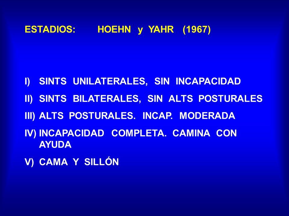 ESTADIOS: HOEHN y YAHR (1967)