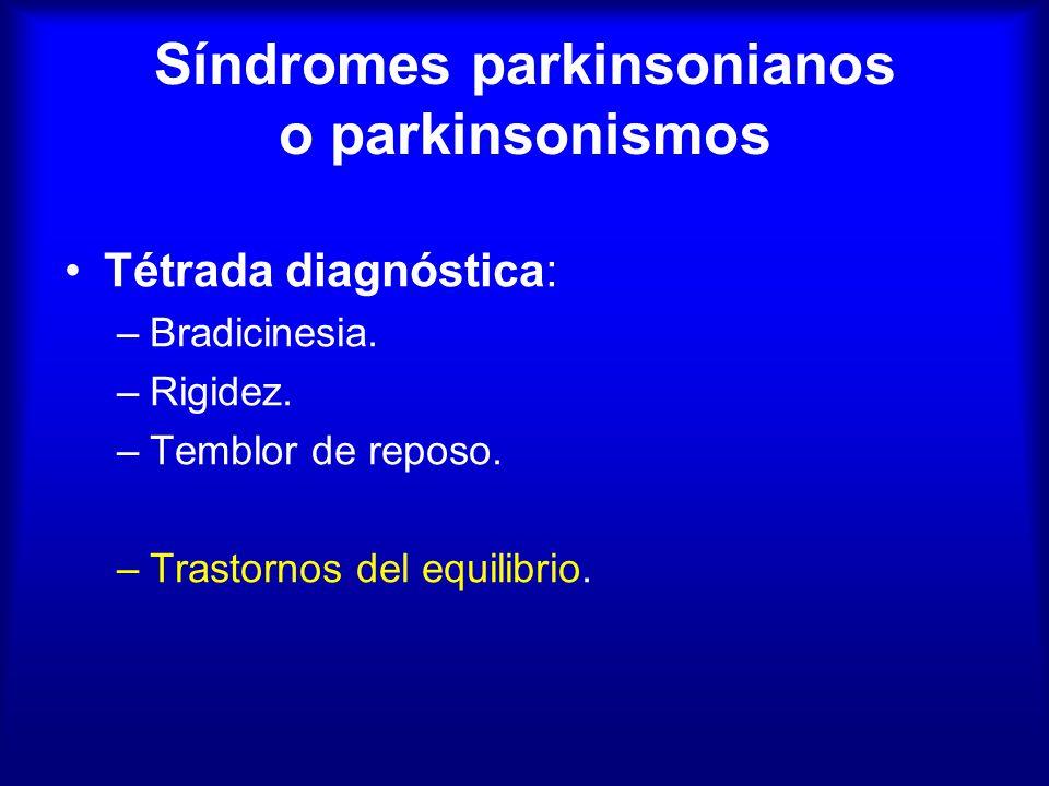 Síndromes parkinsonianos o parkinsonismos