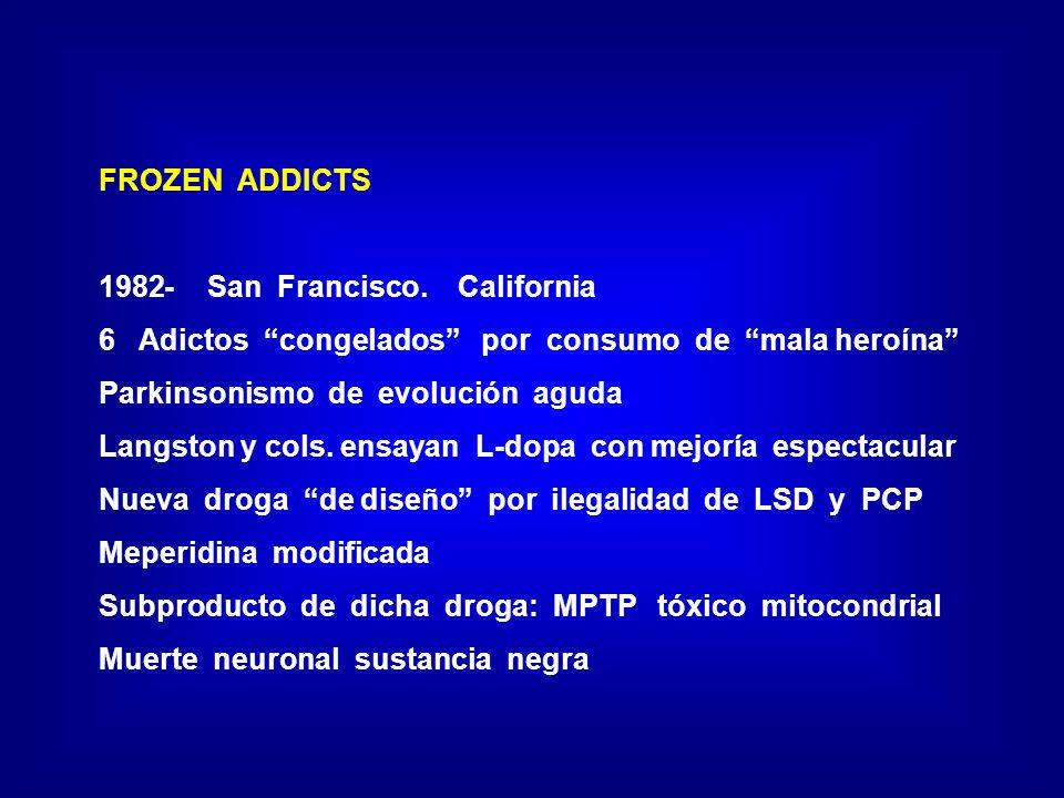 FROZEN ADDICTS - San Francisco. California. Adictos congelados por consumo de mala heroína
