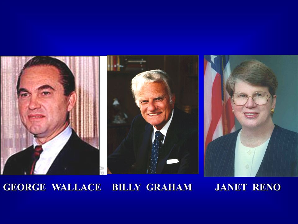GEORGE WALLACE BILLY GRAHAM JANET RENO