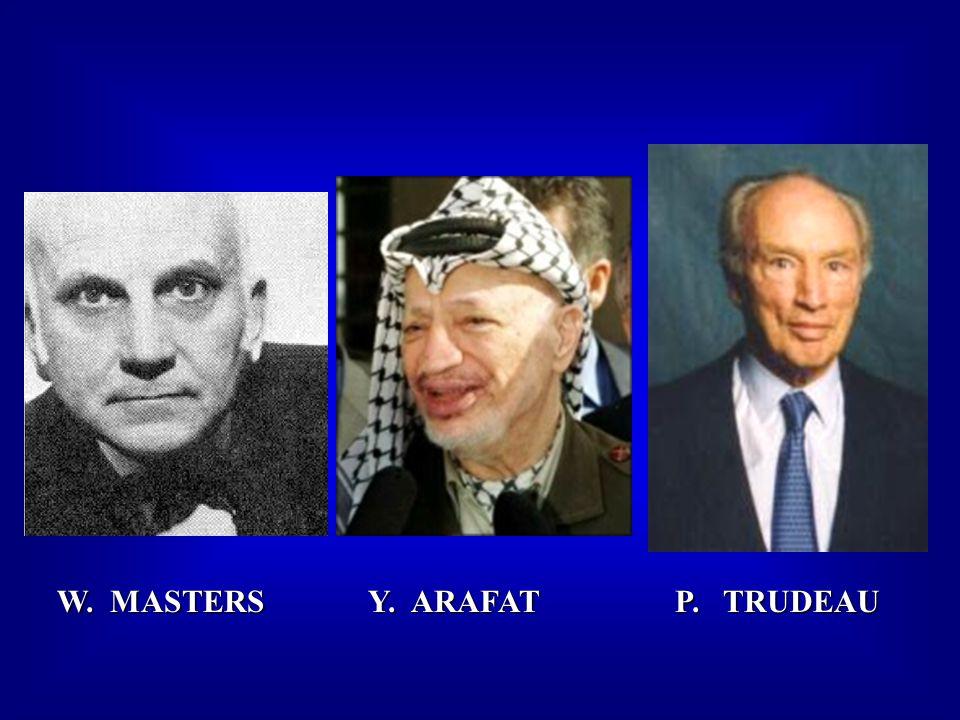 W. MASTERS Y. ARAFAT P. TRUDEAU