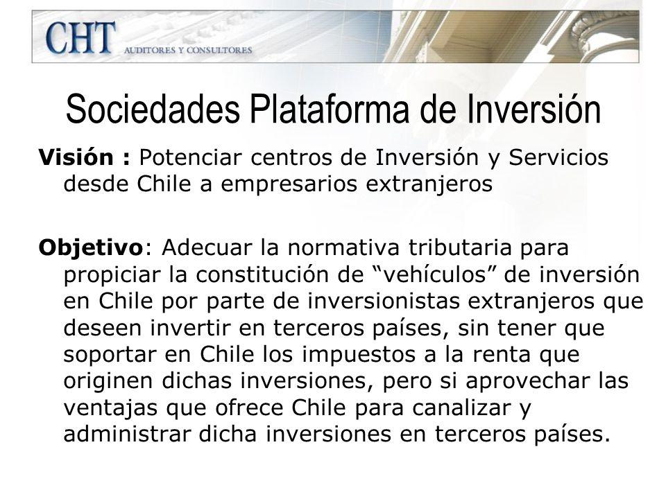 Sociedades Plataforma de Inversión