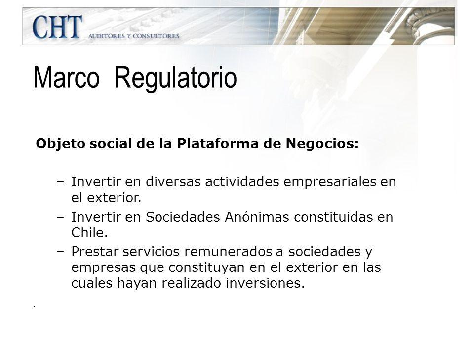 Marco Regulatorio Objeto social de la Plataforma de Negocios: