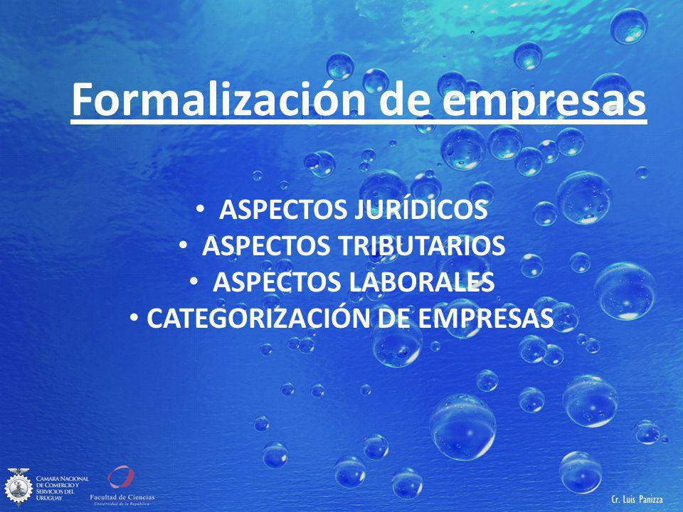 Formalización de empresas CATEGORIZACIÓN DE EMPRESAS