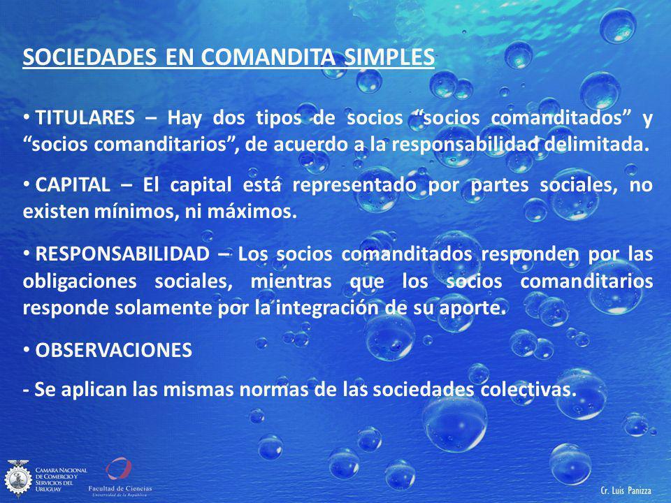 SOCIEDADES EN COMANDITA SIMPLES