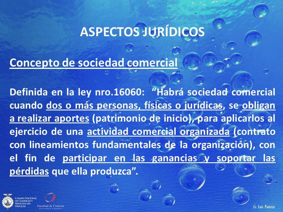 ASPECTOS JURÍDICOS Concepto de sociedad comercial
