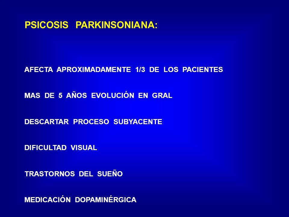 PSICOSIS PARKINSONIANA: