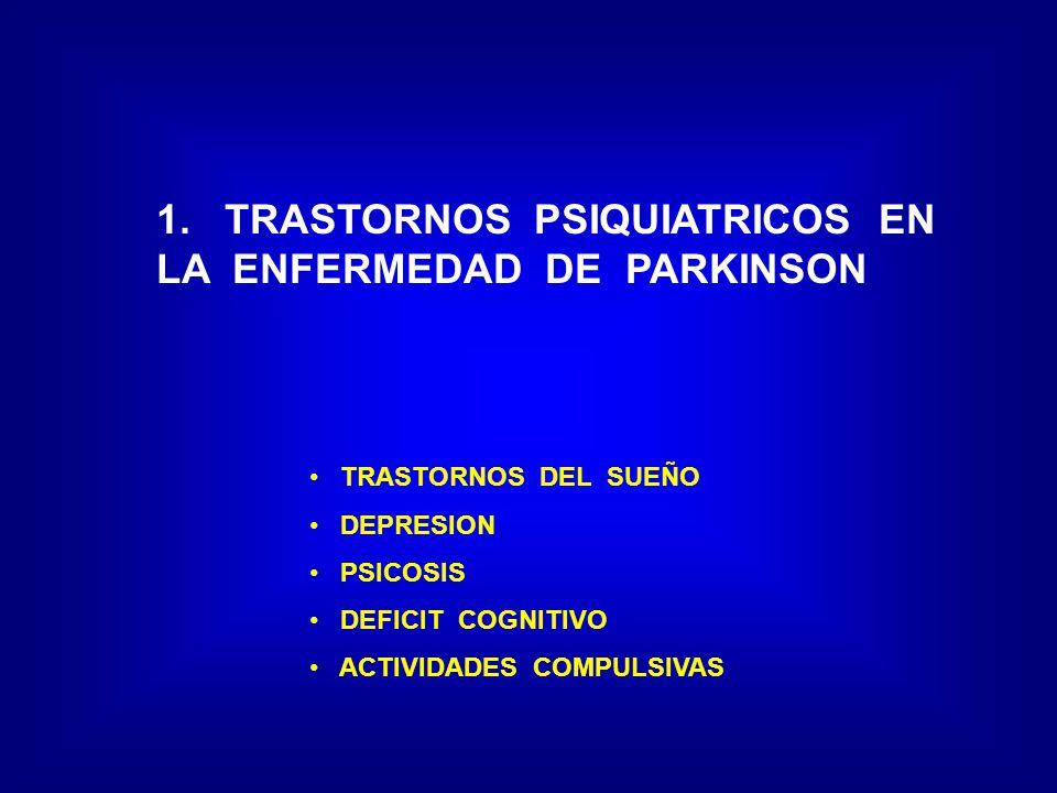 1. TRASTORNOS PSIQUIATRICOS EN LA ENFERMEDAD DE PARKINSON
