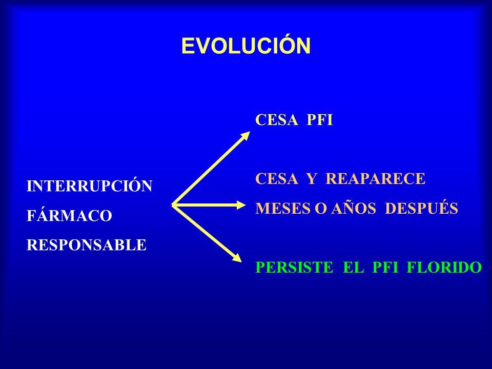 EVOLUCIÓN CESA PFI CESA Y REAPARECE MESES O AÑOS DESPUÉS INTERRUPCIÓN