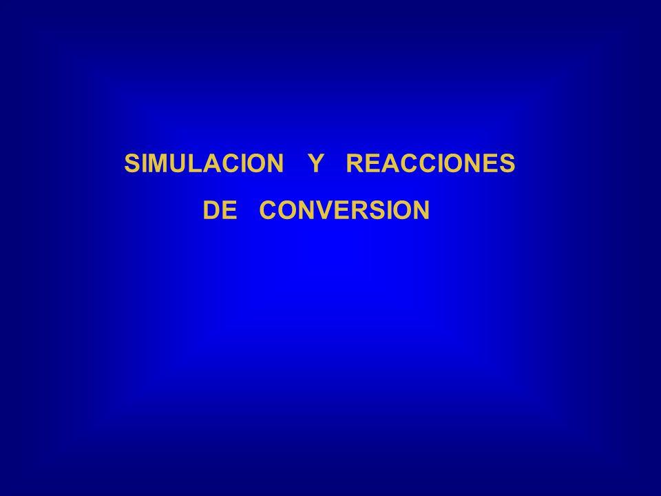 SIMULACION Y REACCIONES