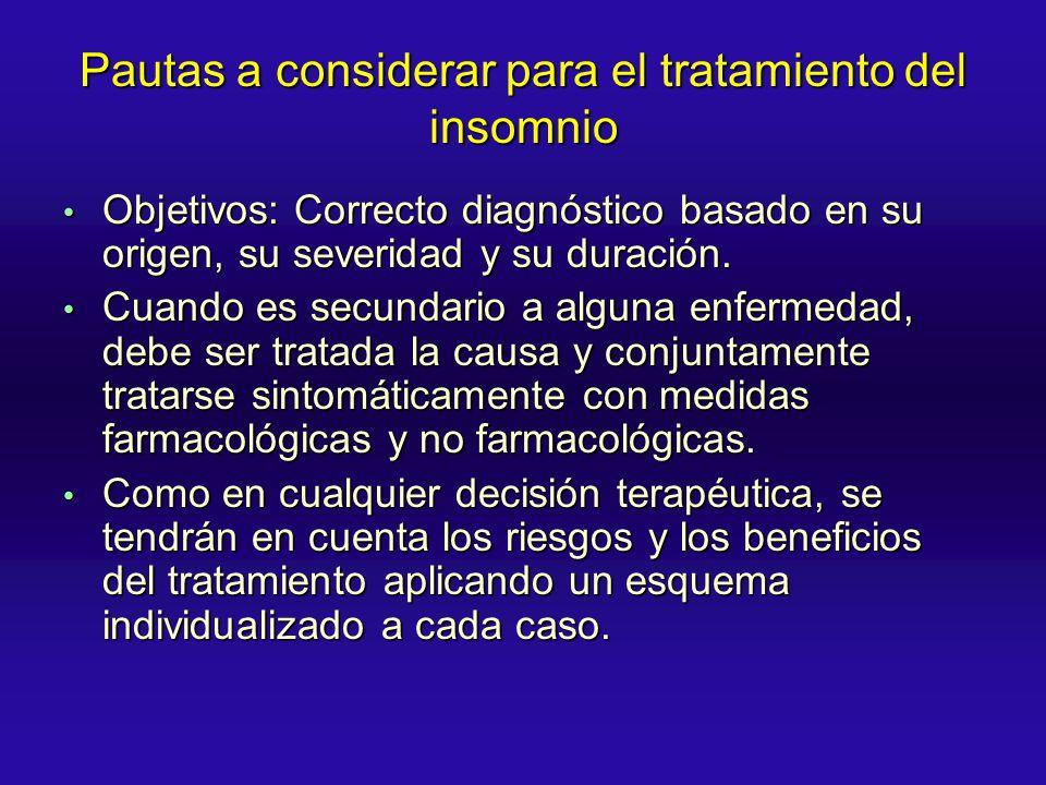 Pautas a considerar para el tratamiento del insomnio