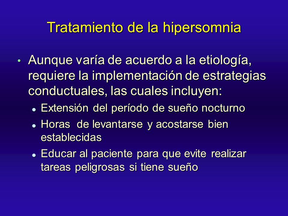 Tratamiento de la hipersomnia