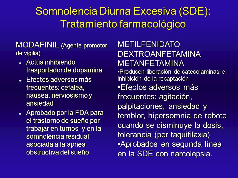 Somnolencia Diurna Excesiva (SDE): Tratamiento farmacológico