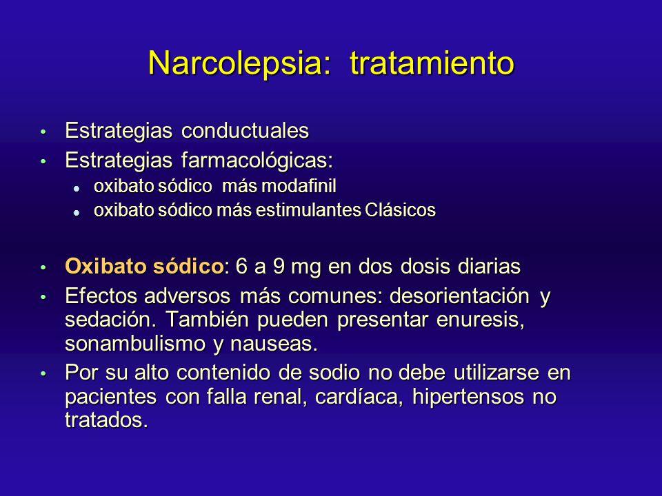 Narcolepsia: tratamiento
