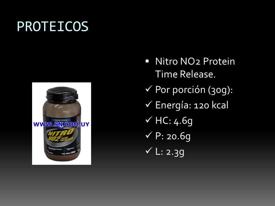 PROTEICOS Nitro NO2 Protein Time Release. Por porción (30g):