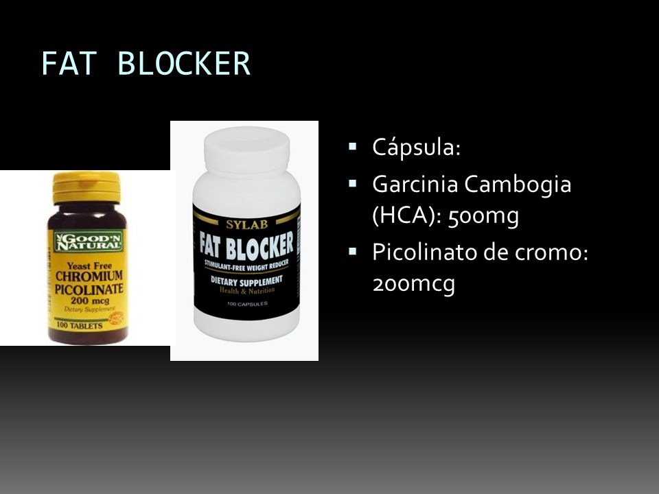 FAT BLOCKER Cápsula: Garcinia Cambogia (HCA): 500mg