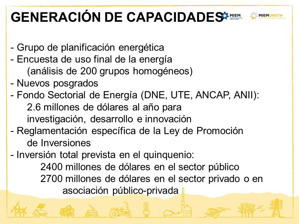 GENERACIÓN DE CAPACIDADES