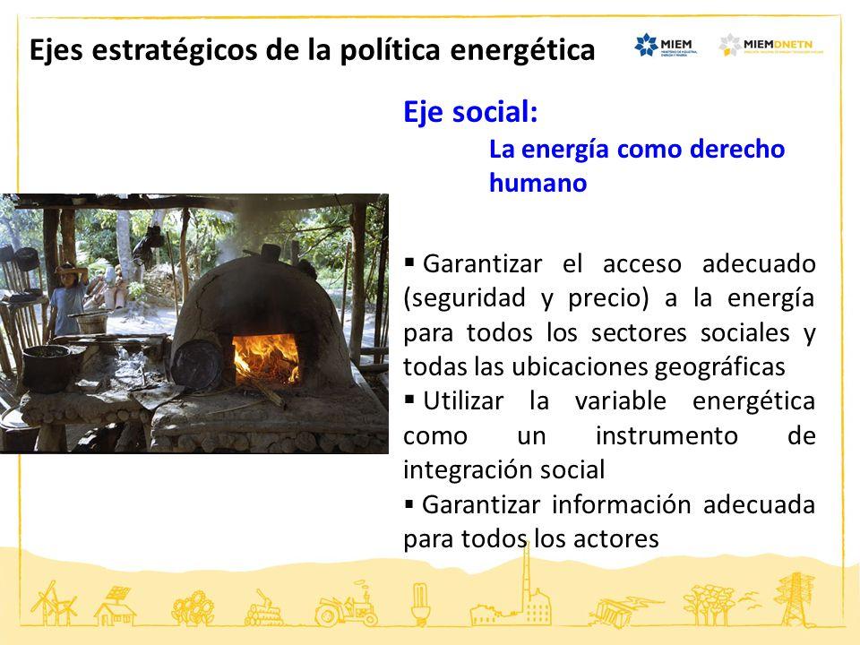 Ejes estratégicos de la política energética