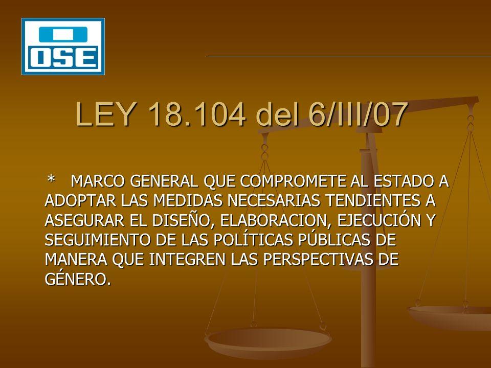 LEY 18.104 del 6/III/07