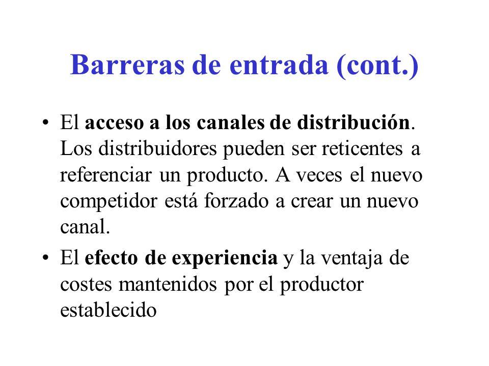 Barreras de entrada (cont.)