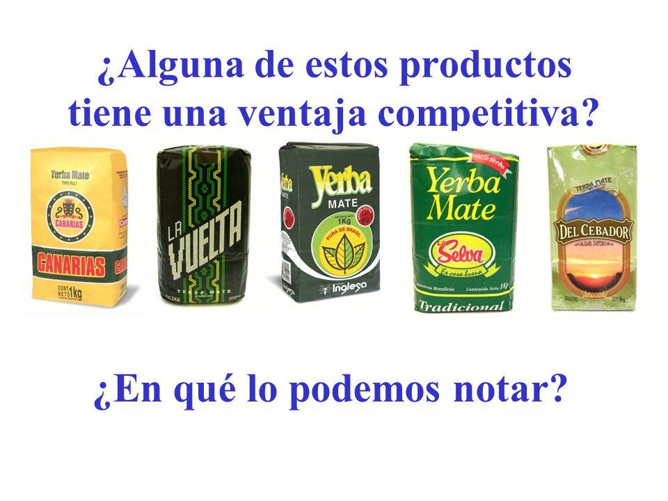 ¿Alguna de estos productos tiene una ventaja competitiva