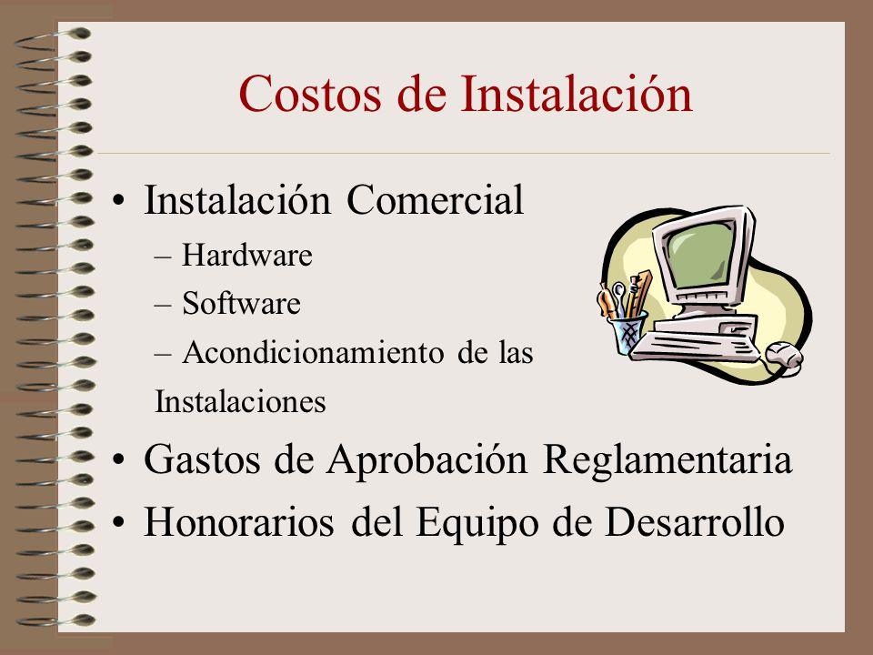 Costos de Instalación Instalación Comercial
