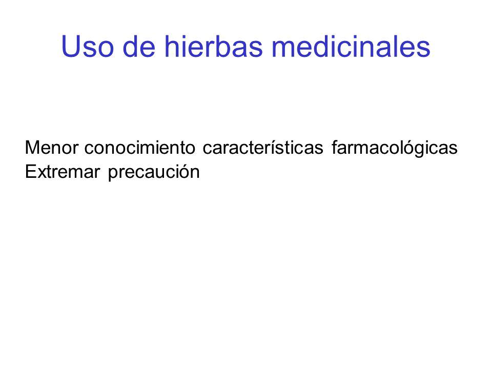 Uso de hierbas medicinales