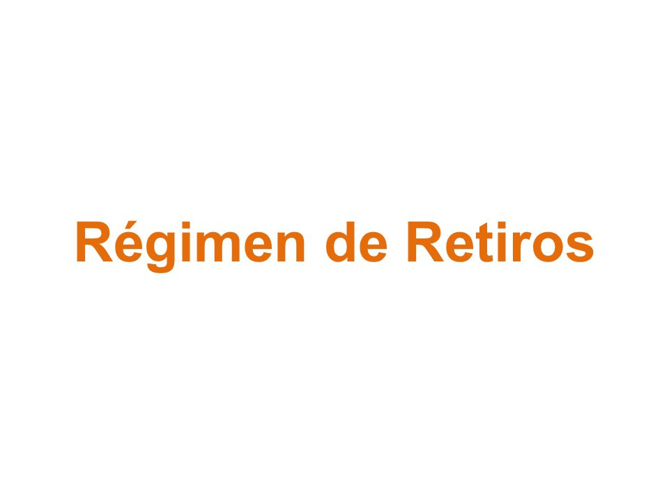 Régimen de Retiros