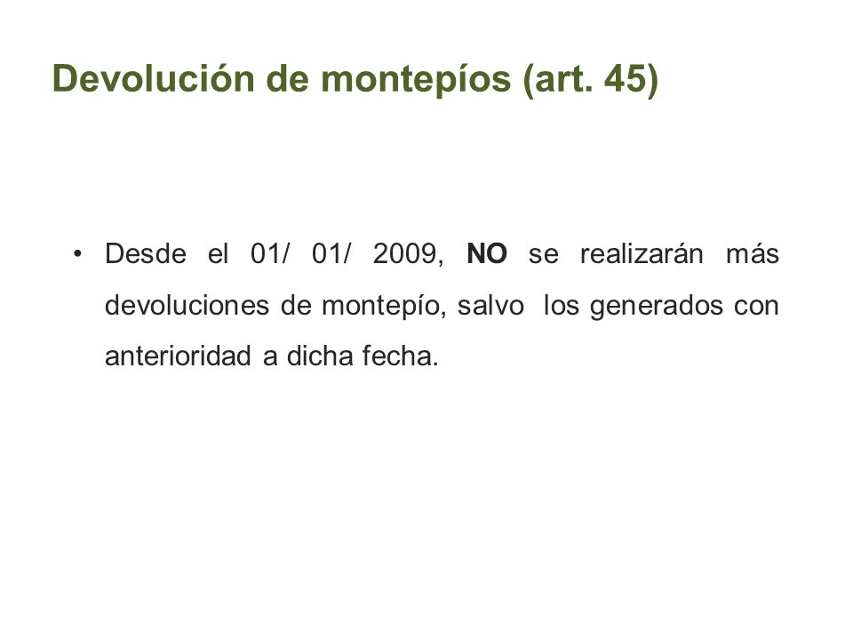 Devolución de montepíos (art. 45)
