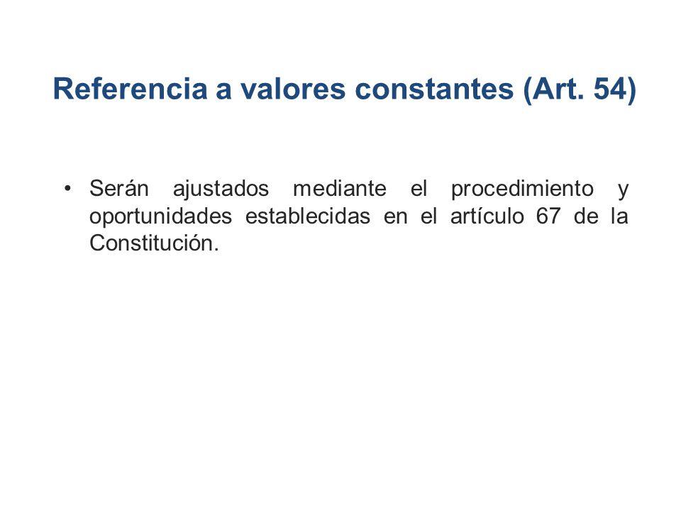 Referencia a valores constantes (Art. 54)
