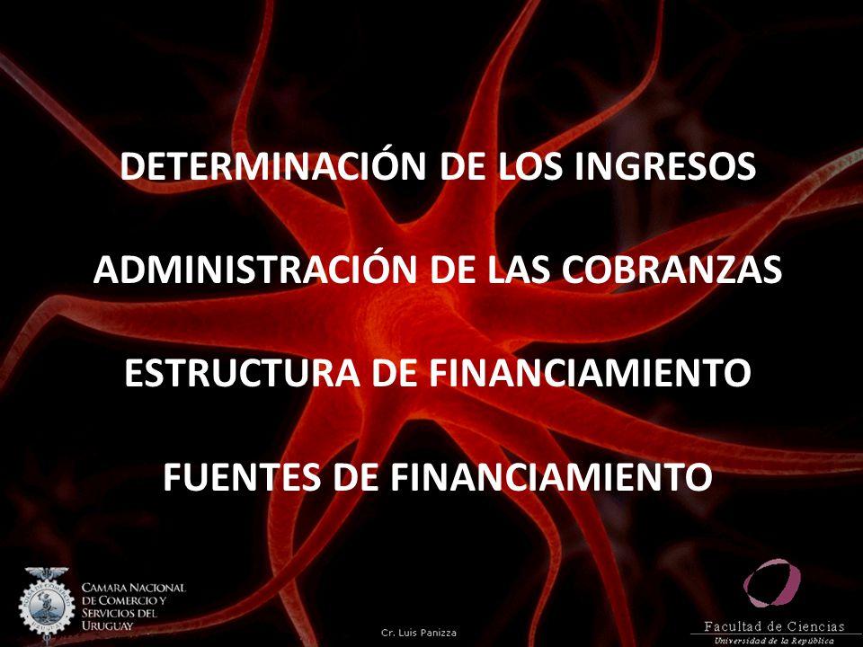 DETERMINACIÓN DE LOS INGRESOS ADMINISTRACIÓN DE LAS COBRANZAS