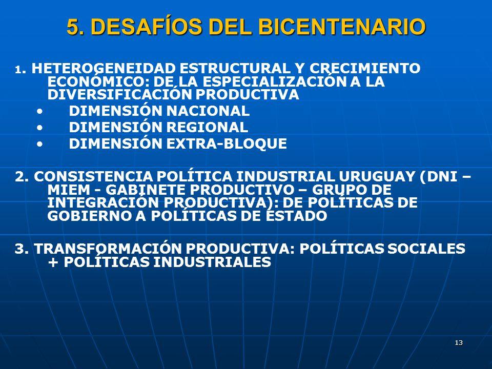 5. DESAFÍOS DEL BICENTENARIO