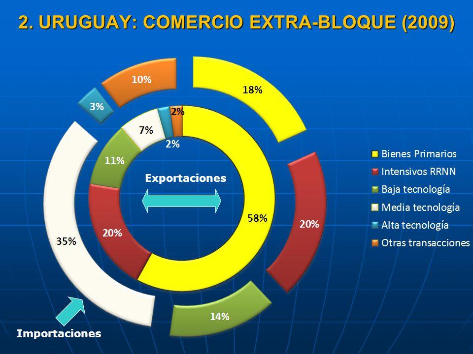 2. URUGUAY: COMERCIO EXTRA-BLOQUE (2009)